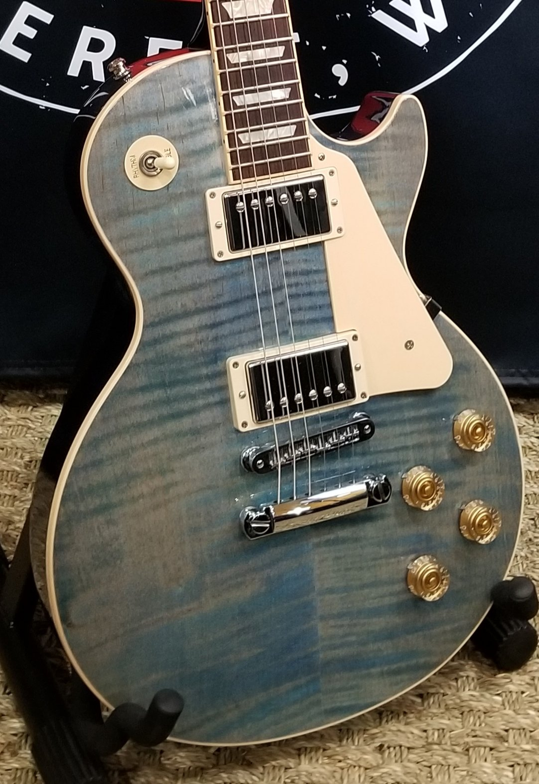2014 Gibson Les Paul Traditional, Ocean Blue w/ohc