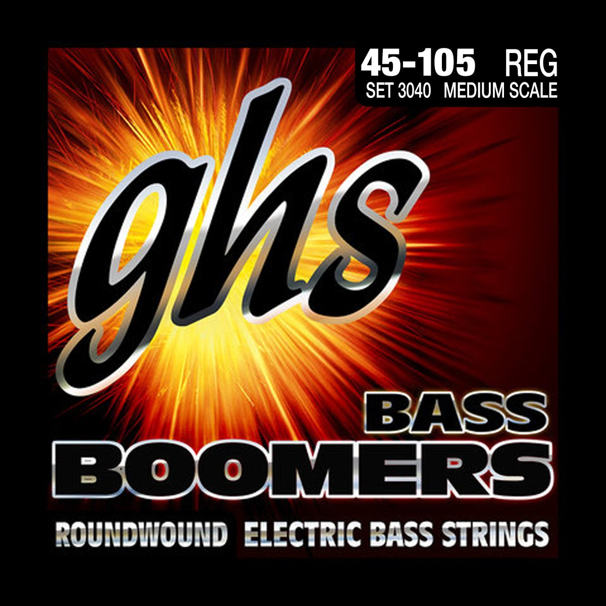 GHS 3040 Medium Scale Roundwound Bass strings 45-105