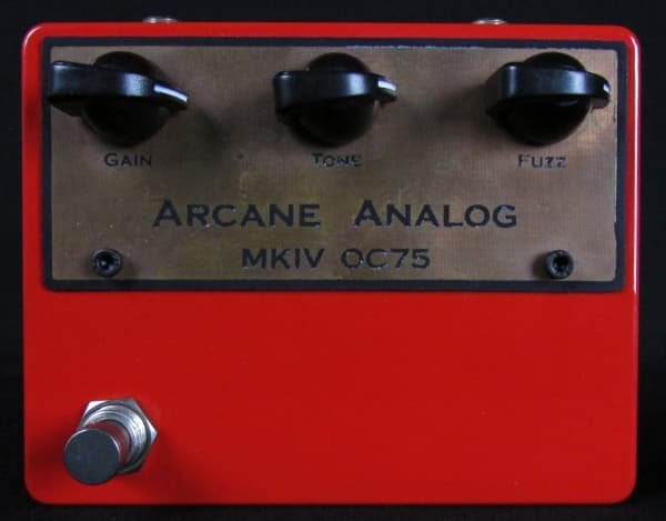 Arcane Analog Colorsound MKIV Tonebender OC75 Germanium Transistor Fuzz Pedal (SMALL CHIP ON THE SIDE OF THE ENCLOSURE)