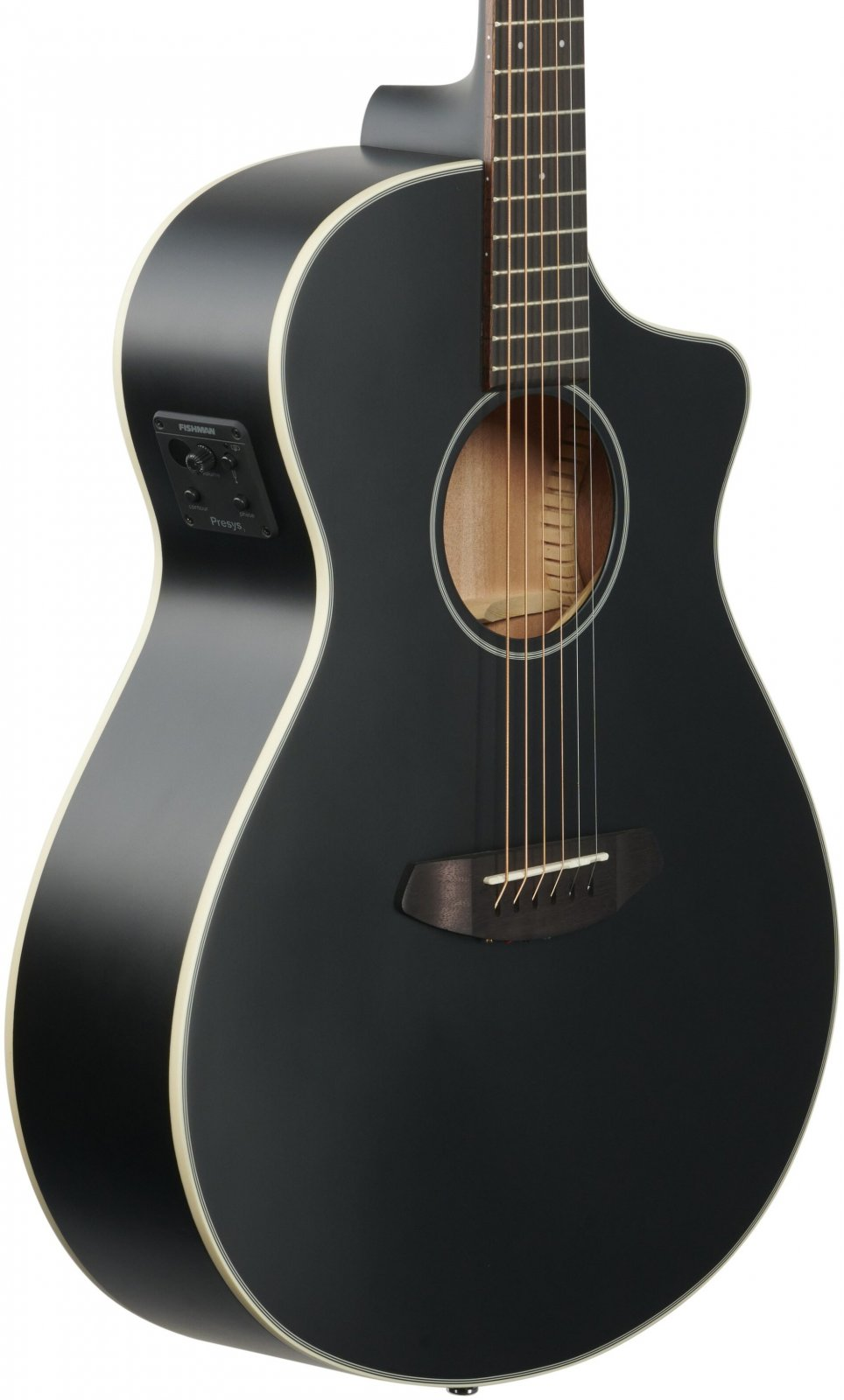 Breedlove Discovery Concert CE Satin Black Acoustic - Electric Guitar