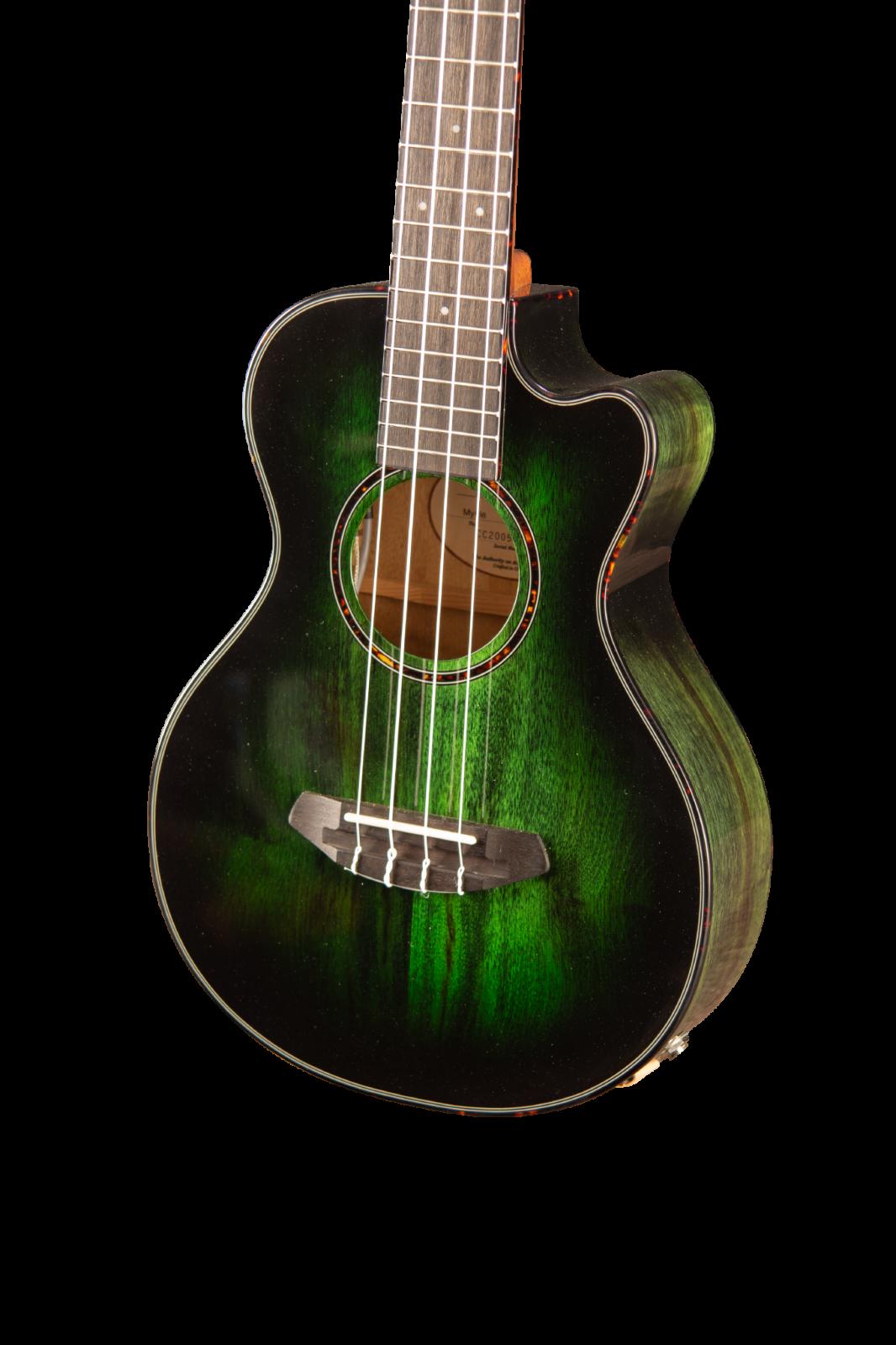 Breedlove Lu'au Tenor Ukulele Acoustic Electric Uke LTD Emerald Gloss