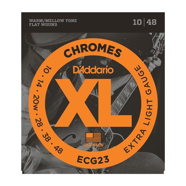 Daddario ECG23 Chromes Flatwound  Extra Light 10-48