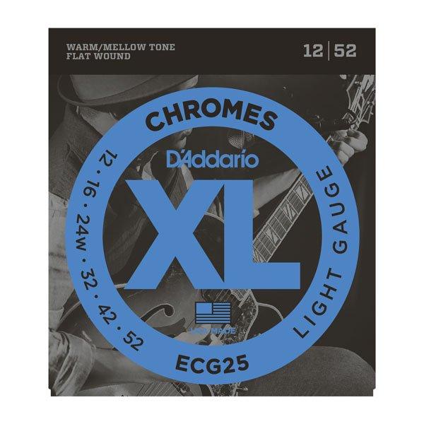 Daddario ECG25 Chromes Flatwound Light 12-52