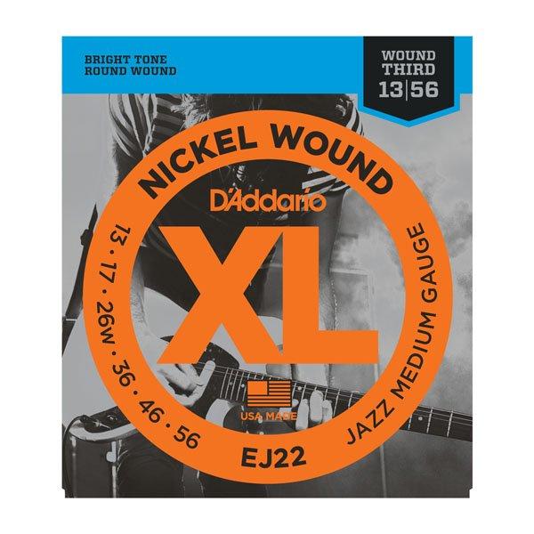 Daddario EJ22 Jazz Medium Nickle Wound 13-56 Wound G