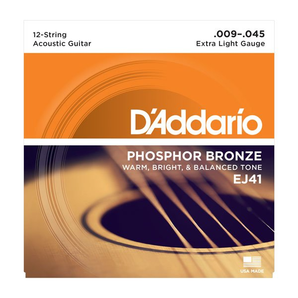 Daddario EJ41 Phosphor Bronze Extra Light 12 Acoustic 9-45