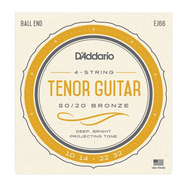 Daddario EJ66 80/20 Bronze Tenor Acoustic 10-32