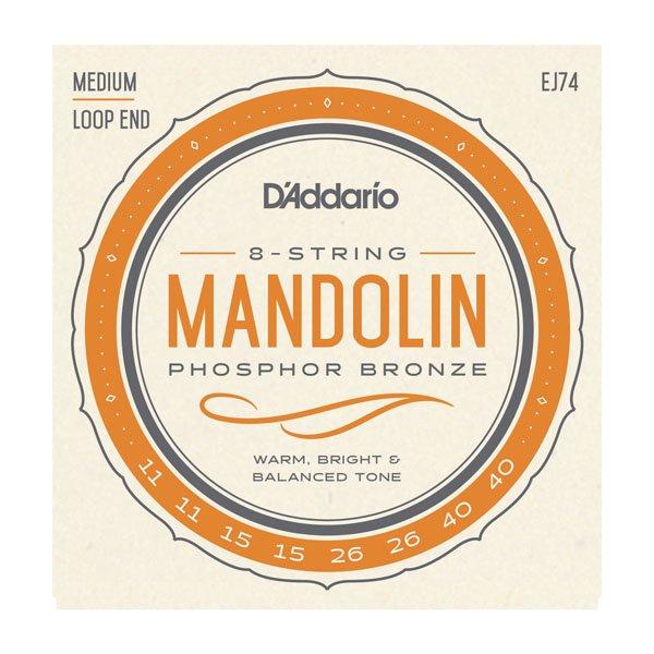 Daddario EJ74 Phosphor Bronze Mandolin Medium 11-40