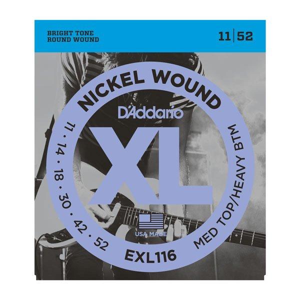 Daddario EXL116 Medium Top/Heavy Bottom Nickle Wound 11-52