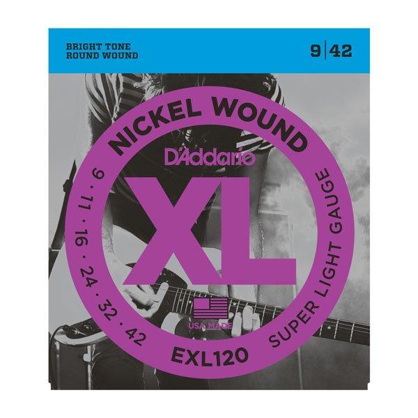 Daddario EXL120 Super Light Nickle Wound 9-42