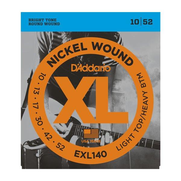 Daddario EXL140 Light Top/Heavy Bottom Nickle Wound 10-52