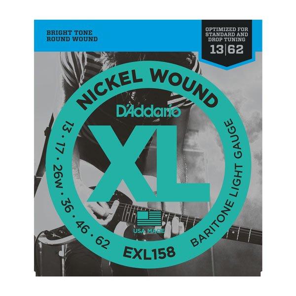 Daddario EXL158 Light Baritone Nickle Wound 13-62