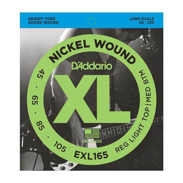 Daddario EXL165 Regular Light Top/Medium Bottom Nickle Wound Long Scale Bass 45-105