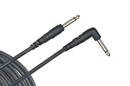 Daddario PW-CGTRA-10 Classic Series Straight to Right Angle Instrument Cable - 10 foot