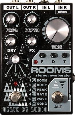 Death By Audio Rooms Stereo Multifunction Digital Reverb Pedal