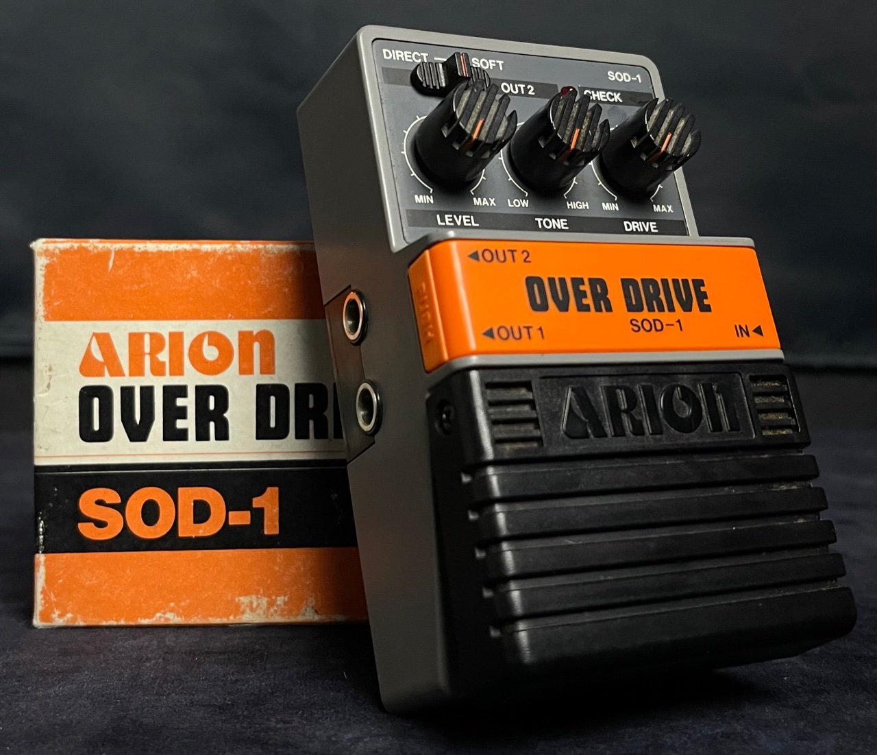 Arion SOD-1 Over Drive  - Overdrive Pedal V1 Gray Box w/box & Manual