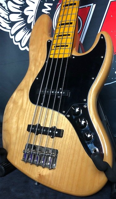2021 Squier Classic Vibe 70's Jazz Bass V 5-String Electric Bass Guitar w/GB