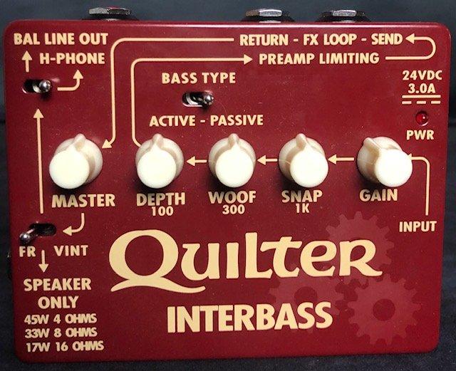 Quilter InterBass 45-Watt Pedal-Sized Bass Amplifier w/box