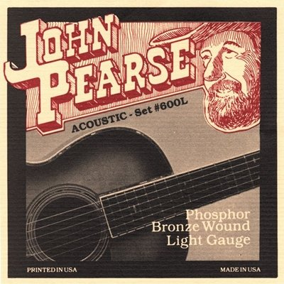 John Pearse JP600L Phosphor Bronze Light 12-53