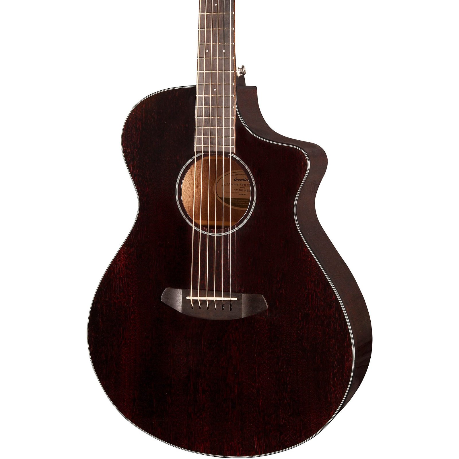 Breedlove Discovery Concert CE Black Widow Acoustic - Electric Guitar