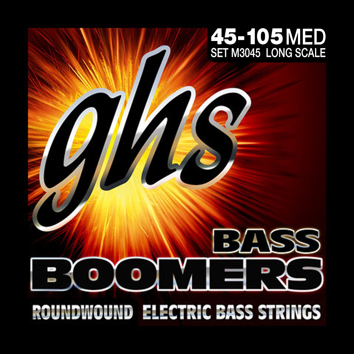 GHS M3045 Long Scale Bass Boomers Roundwound 45-105