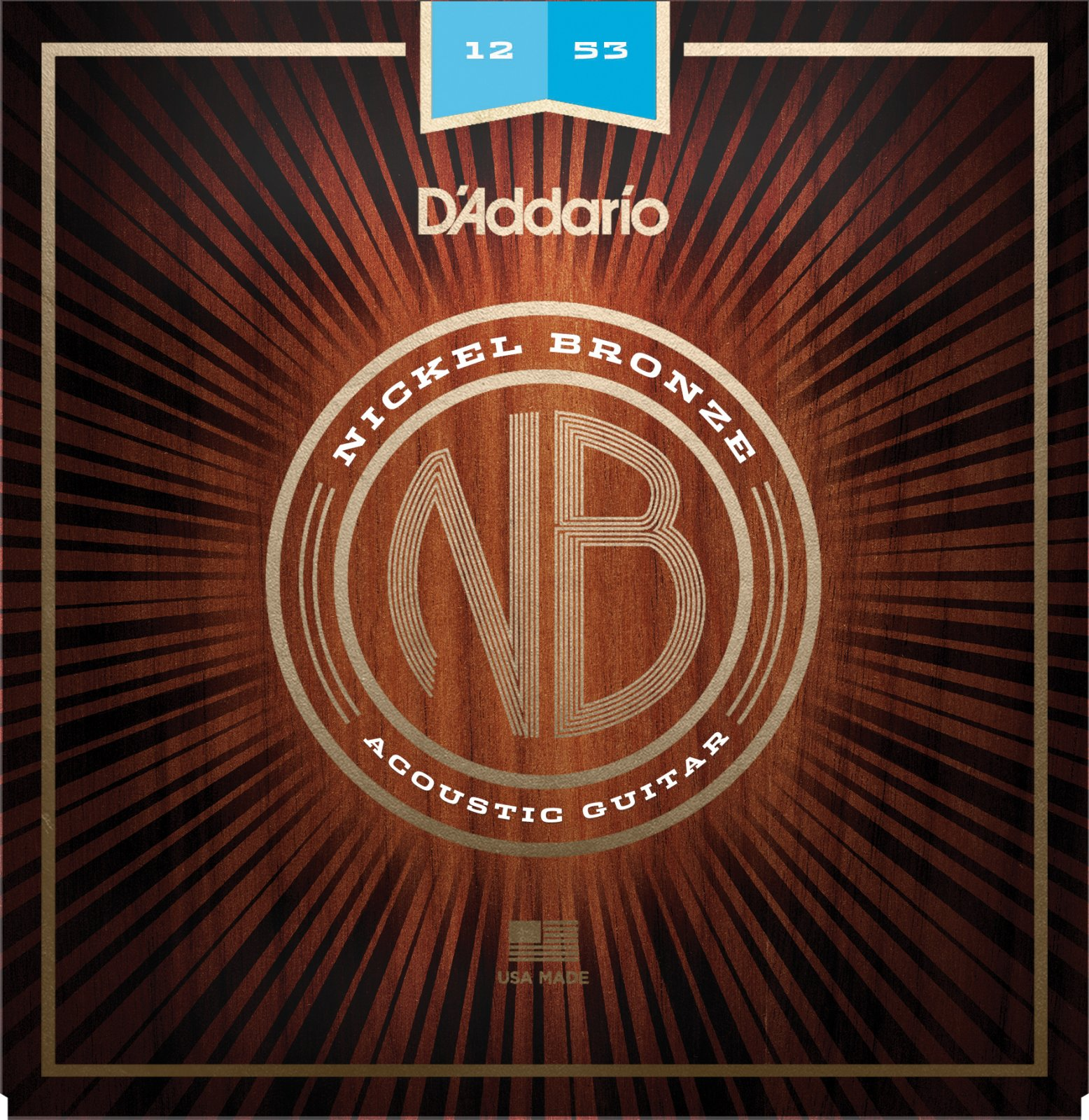 Daddario NB1253 Nickle Bronze Acoustic Light 12-53