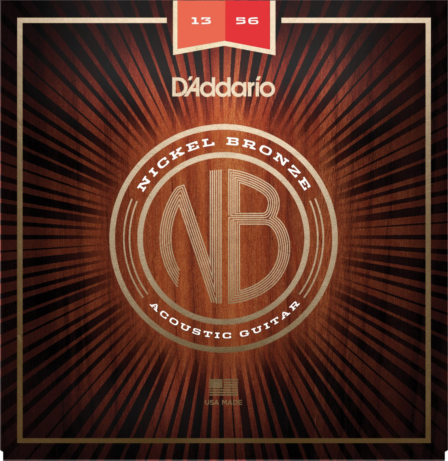 Daddario NB1356 Nickle Bronze Acoustic Medium 13-56