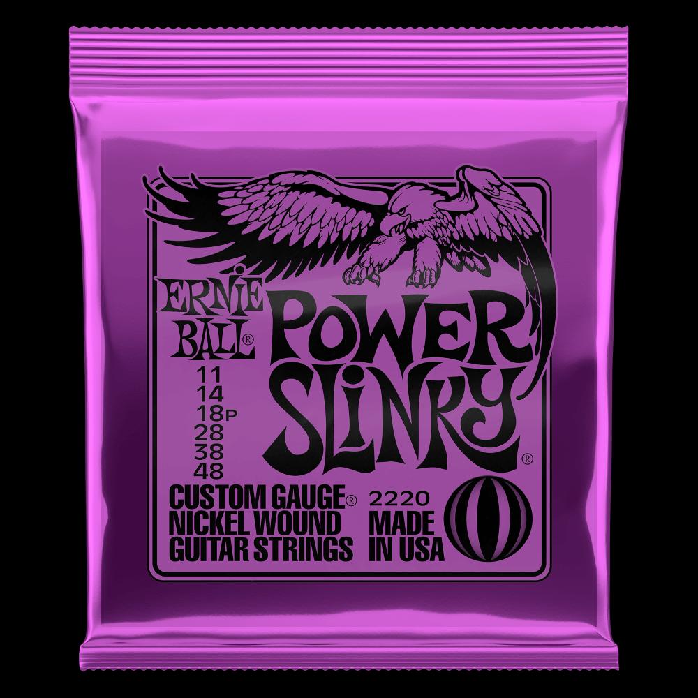 Ernie Ball 2220 Power Slinky Nickel Wound Electric Guitar Strings 11-48 Gauge
