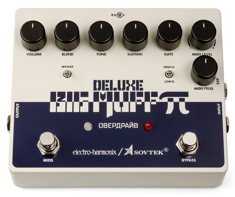 Electro-Harmonix Sovtek Deluxe Big Muff Pi Fuzz Pedal with Mid-Shift