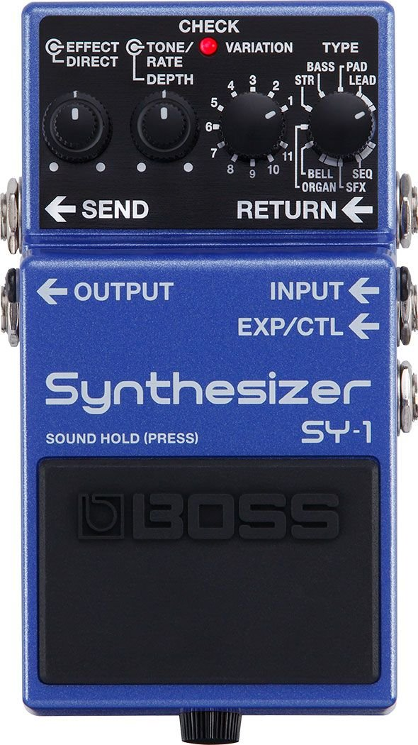 Boss SY-1 Synthesizer Guitar and Bass Synth Pedal