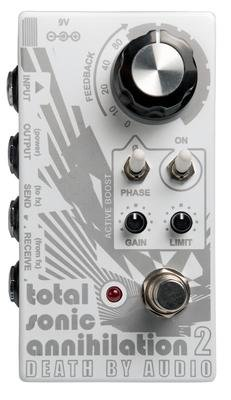 Death By Audio Total Sonic Annihilation 2 Feedback Looper with Active Boost and Limiter Pedal