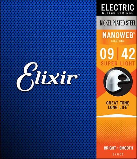 Elixir 12002 Nanoweb Nickle Plated Steel Super Light 9-42
