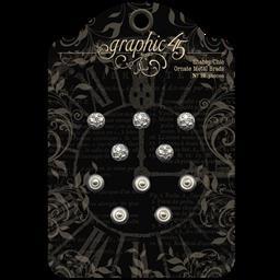 Shabby Chic Ornate Stamped Metal Brads
