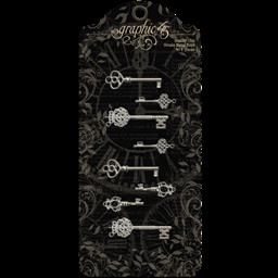 Shabby Chic Ornate Metal Keys
