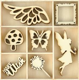 MINI MAKE A WISH WOODEN FLOURISHES PACK
