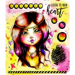 CRE8TIVE CREATIONS LISTEN TO YOUR HEART ART JOURNAL STAMPS