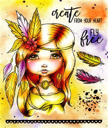 CRE8TIVE CREATIONS FLY FREE ART JOURNAL STAMPS