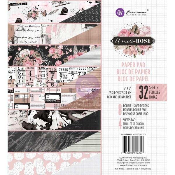 AMELIA ROSE 6x6: PAPER PAD