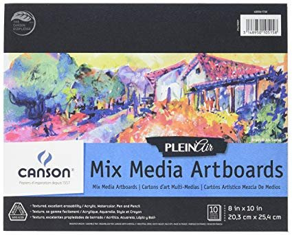 MIXED MEDIA 8X10 - CANSON PLEIN AIR ARTBOARDS