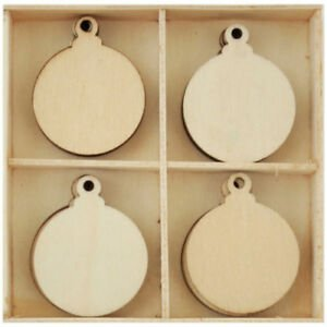 Wooden Shapes - Baubles