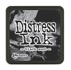 Mini Distress Pad - Black Soot