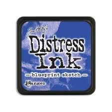 Mini Distress Pad - Blueprint Sketch