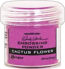 CACTUS FLOWER EMBOSSING POWDER