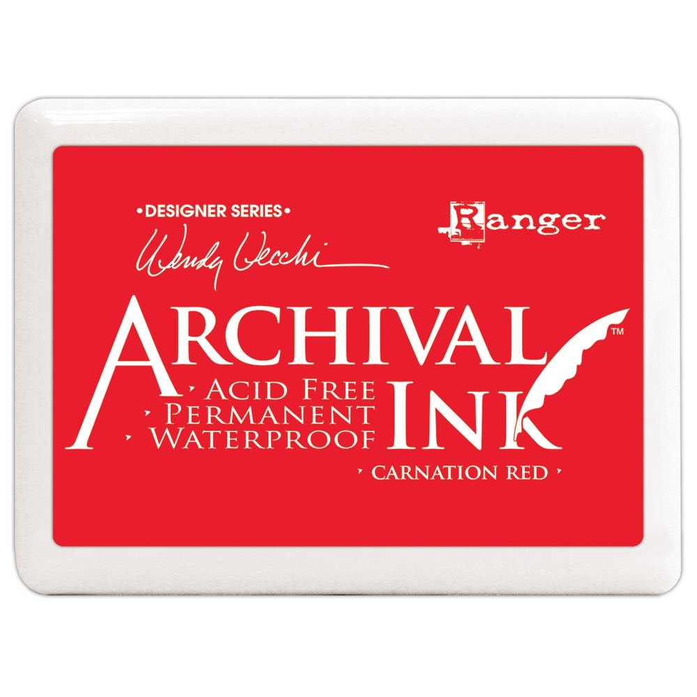 CARNATION RED - WENDI VECCHI JUMBO ARCHIVAL INK PADS