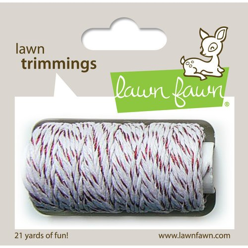 LAWN TRIMMINGS RED SPARKLE CORD