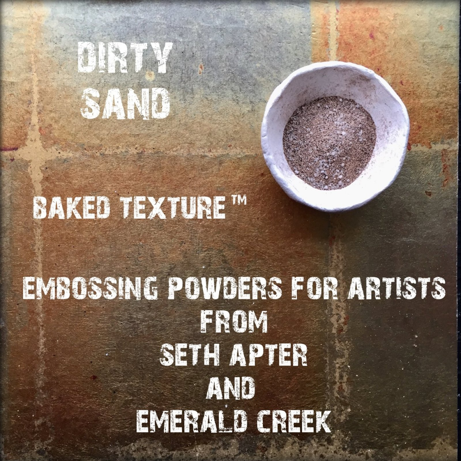 DIRTY SAND 17G - BAKED TEXTURE EMBOSSING POWDER