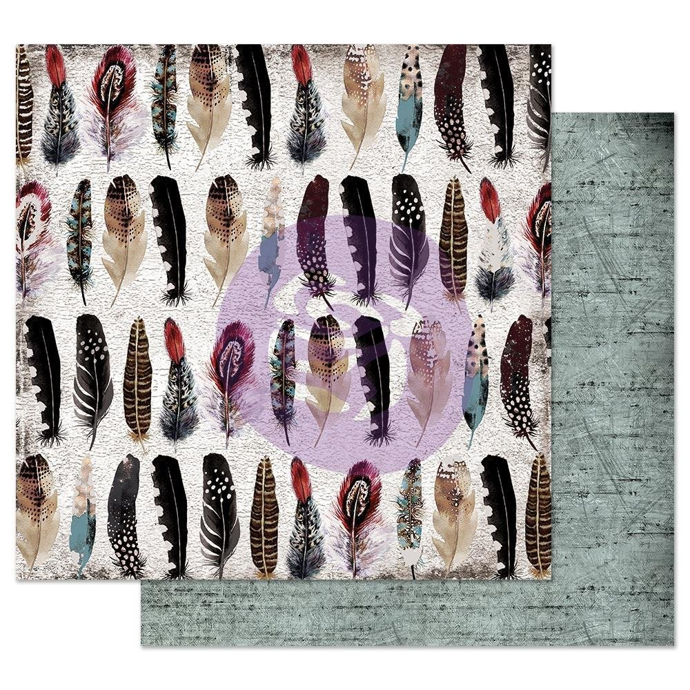 MIDNIGHT GARDEN FEATHER COLLECTOR 12X12 PAPER