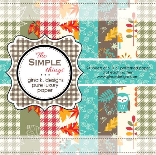 THE SIMPE THINGS:  GINA K. PATTERNED PAPER PACK 6X6