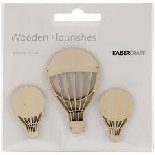 Wooden Flourishes - Hot air balloons