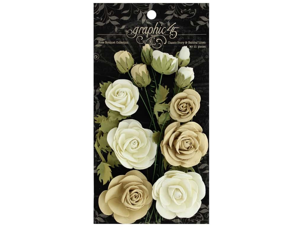 CLASSIC IVORY & ANTIQUE LINEN - ROSE BOUQUET