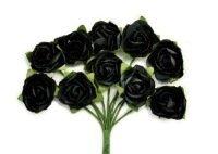 BLACK MINI PAPER BLOOMS